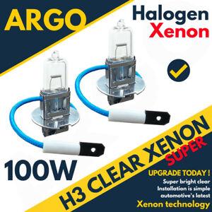 H3-Halogen-Clear-Xenon-100w-Headlight-453-Fog-Lamps-Spot-Light-Pk22s-Bulbs-12v