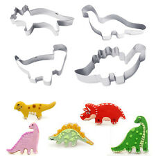 4pcs/set Stainless Steel Dinosaur Animal Fondant Cake  Biscuit Cutter Mold