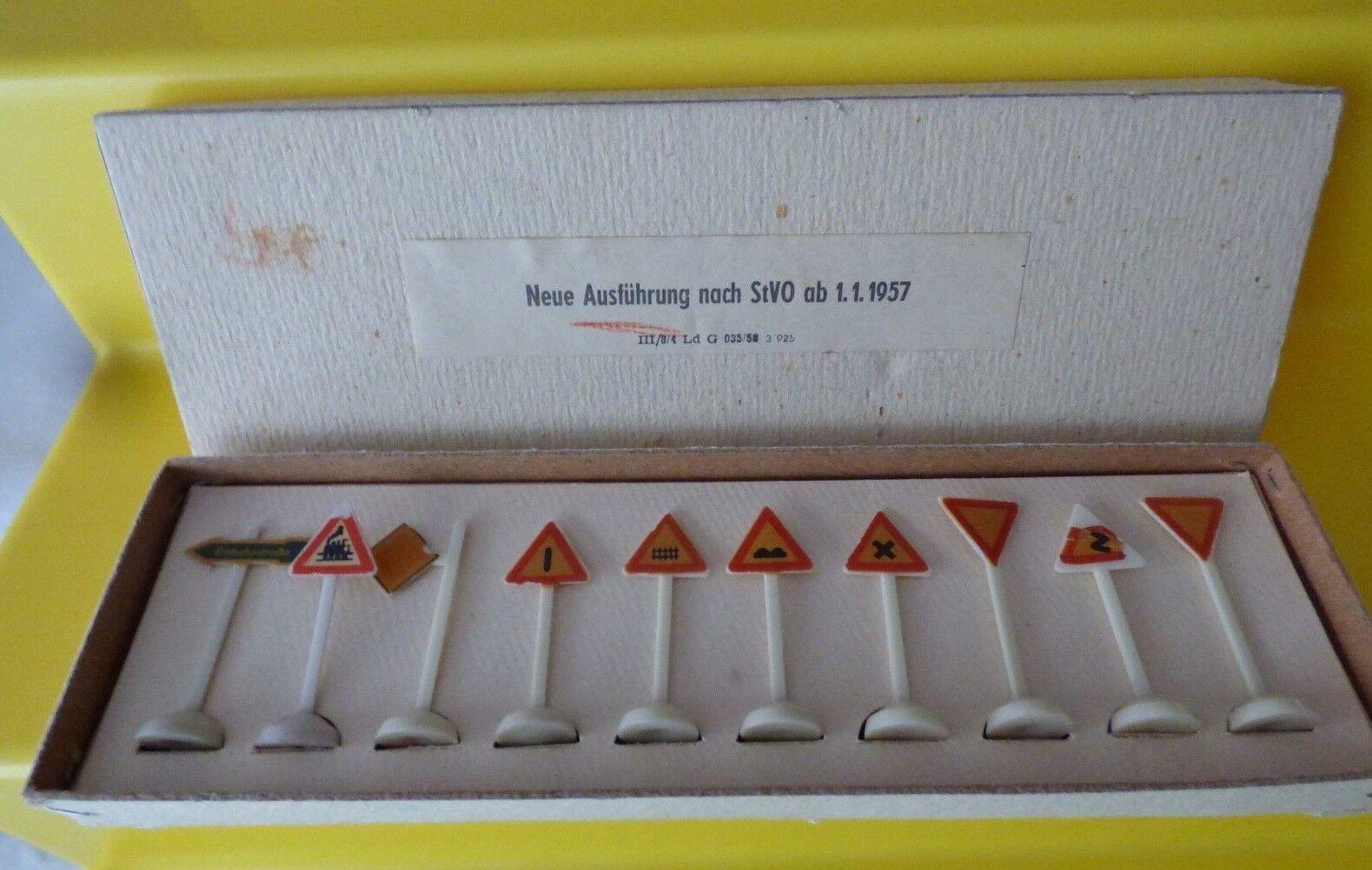 10 segnali stradali di plastica in scatola originale potrebbe dall'azienda essere signor