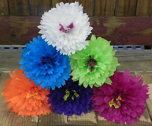 Mexican paper flowers set of 6 multicolor marigolds lwe make image is loading mexican paper flowers set of 6 multicolor marigolds mightylinksfo