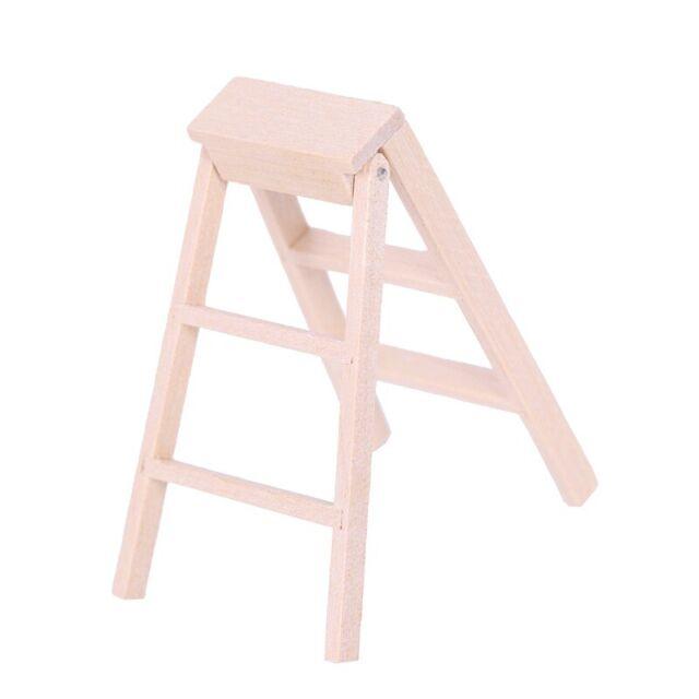 1:12 Dollhouse Miniature Furniture Wooden Ladder L5N2