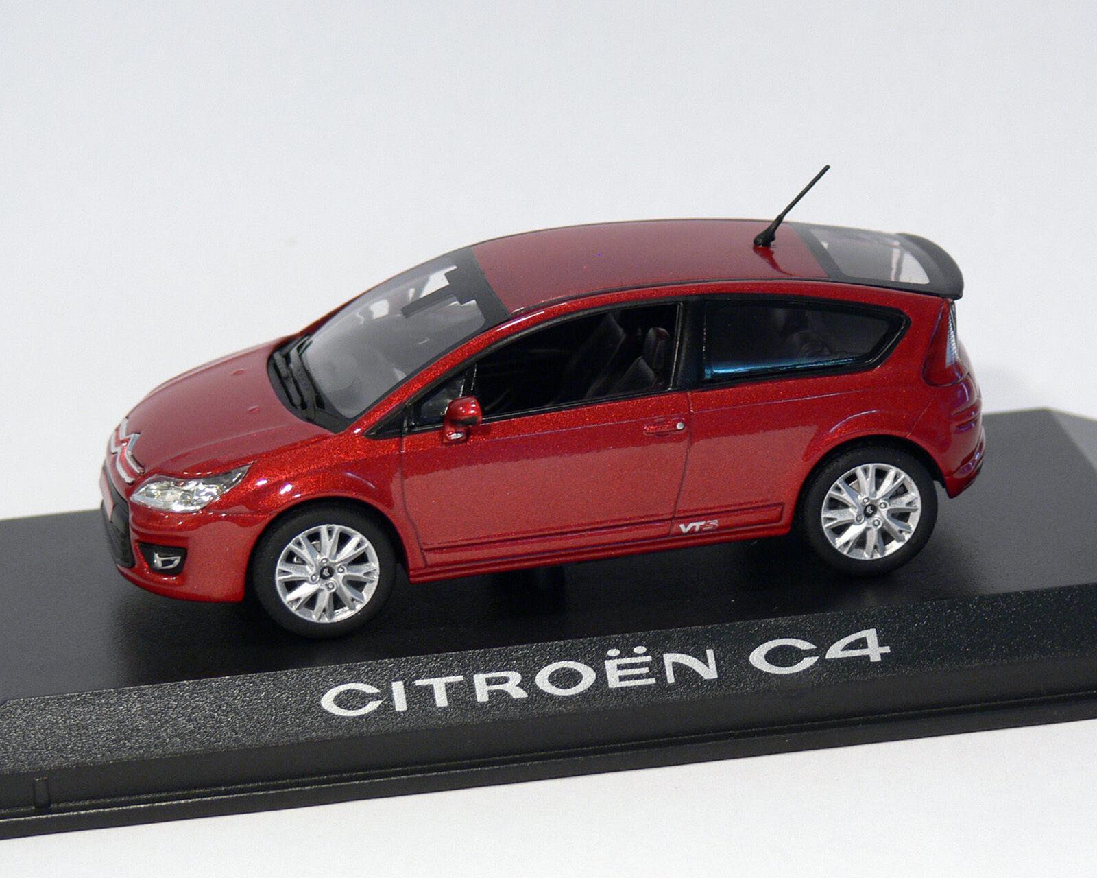 Citroen C4 Coupe, Red Metallic, 2008, Norev 1 43