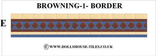 suelo Casa De Muñecas Azulejos Y 1 Browning Casa De Muñecas Miniaturas frontera Pack