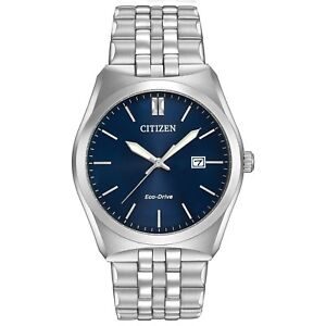 Citizen Eco-Drive Men's Corso Blue Dial Silver-Tone 40mm Watch BM7330-59L