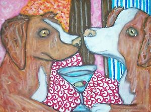 Nova-Scotia-Duck-Tolling-Retriever-8x10-Dog-Art-Giclee-Print-Signed-Artist-KSAMS