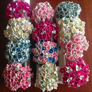 Vintage-Millinery-Flower-Forget-Me-Not-12-bunch-All-for-Hat-Hair-Crown-Kawaii