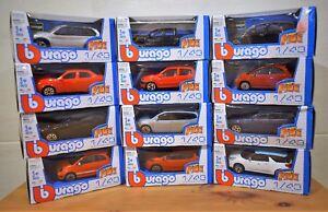 BURAGO-DIECAST-1-43-FIAT-ABARTH-500-CLIO-FOCUS-X5-3-SERIE-Combi-VW-Amarok-auto