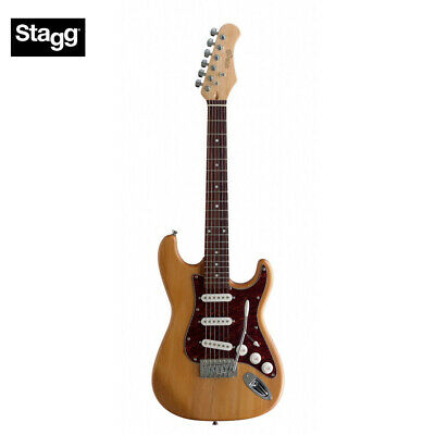 new stagg s300 3 4 size s type standard electric guitar natural finish 882030149931 ebay. Black Bedroom Furniture Sets. Home Design Ideas