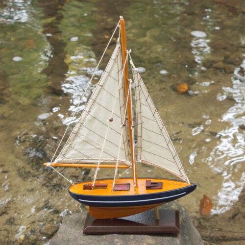Modellschiff aus Holz, Altes Segelschiff, Schiffsmodell, Yacht, Einmaster