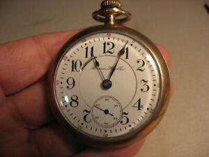 Antique Hampden Men's Working Pocket Watch Made 1906 Railroad Grade 21 Jewels