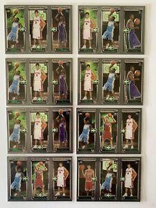 2003-04 Topps Camelo Anthony (8) RC Lot Nuggets Knicks Blazers Clean/sharp