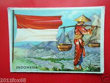 figurines cromos cards figurine sidam gli stati del mondo 31 indonesia bandiere