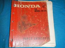 1968 68 1969 69 HONDA CD175 CD 175 CA175 CA 175 PARTS MANUAL BOOK CATALOG