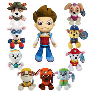 Paw Patrol Stuffed Pups Toys Kids Toddler Boy Girl Gift 4 Piece Dogs Animal NEW