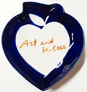 Anthropologie Hotel Magique Arts and Kisses Tresors Trinket Dish Blue New in Box