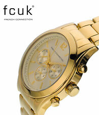 Designer French Connection FCUK FC1144GM Gold Tone Chronograph Watch