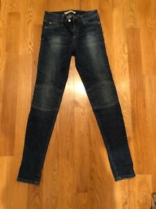 Knie Detailgröße Jeans mit 26 Skinny in mittlerer Waschung Jeans Jean 0A0qxP8a