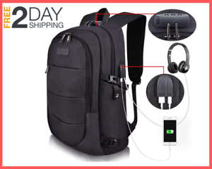Laptop Backpack Water Resistant Anti-Theft School with USB Port 15.6 Inch Laptop