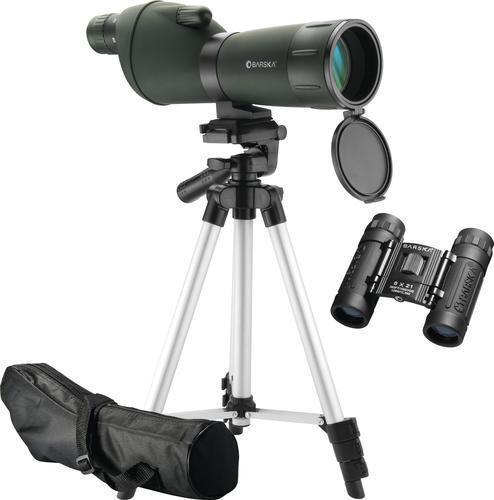 Barska Farbeado 20-60x60 mm Spotting Scope & 8x21 mm Binoculars, Tripod Case NEW