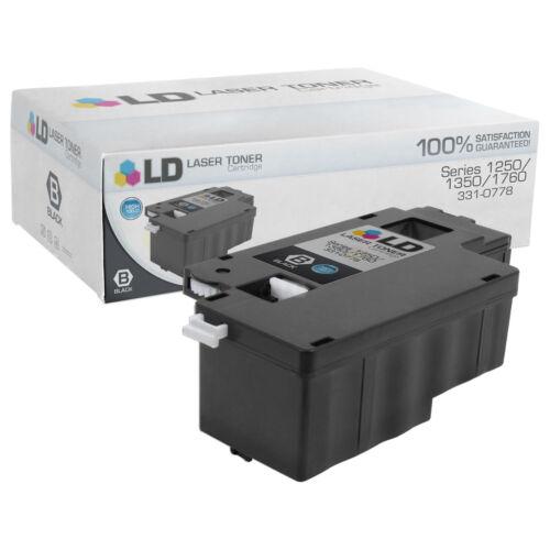 LD Comp Dell 331-0778 3pk Black C1760nw C1765 1250C 1350cnw 1355