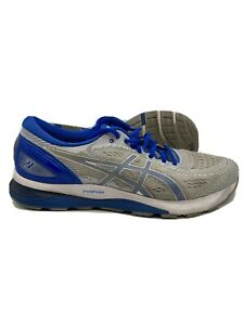 Asics-Gel-Nimbus-21-Mens-Running-Shoes-Sneakers-Gray-Blue-Size-14
