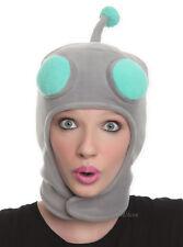 NEW Invader Zim Gir ROBOT Face Pilot Beanie Hat Gray Head W/ Antenna Laplander