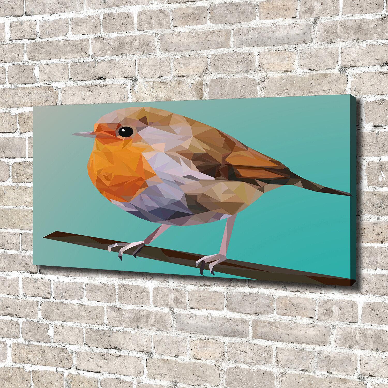 Leinwandbild Kunst-Druck 140x70 Bilder Tiere Rotkehlchen
