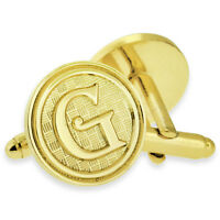 Letter Alphabet Initials Cufflink Set Gold Or Silver