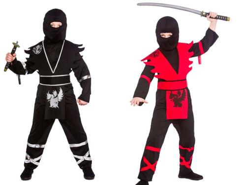 Boys Kids Ninjas Asassin Japanese Warrior Fancy Dress Outfit Costume Age 3-13  N