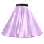 UK Ladies PLUS SIZE SATIN Rock n Roll Skirt 1950s Costume Fancy dress ROCKABILLY