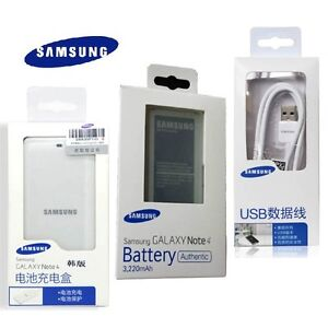 HOT-100-Original-SAMSUNG-Galaxy-Note4-IV-SM-N910-Battery-amp-Charger-amp-Cable-Kit