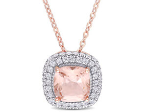 Amour-Cz-and-Simulated-Morganite-Halo-Necklace-in-Rose-Plated-Sterling-Silver