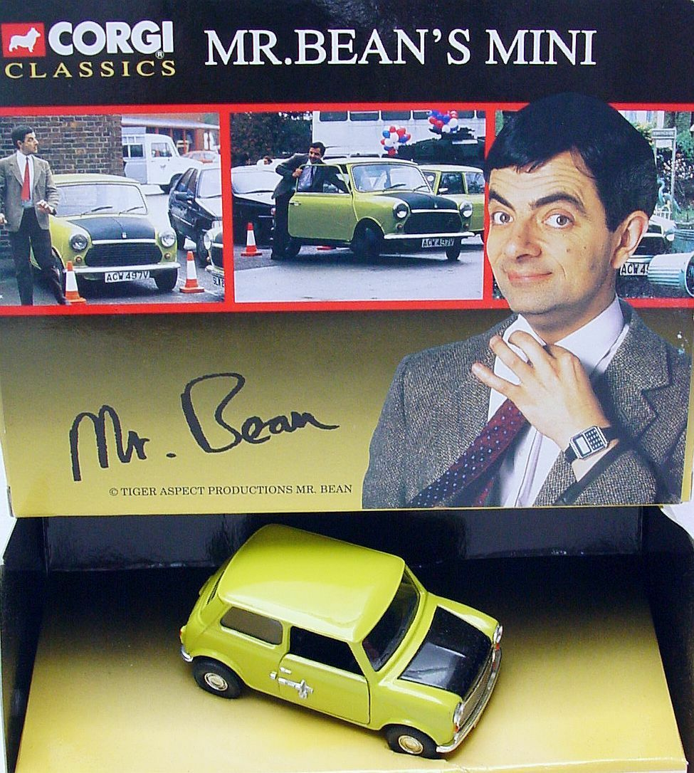 Corgi Toys 1 36 MR. BEAN MINI COOPER Comic TV Series & Movie Car MIB`94 RARE