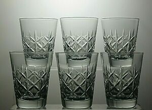 CUT-GLASS-CRYSTAL-WHISKY-TUMBLERS-SET-OF-6-3-034-TALL