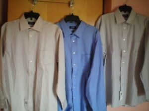 NWT-NEW-mens-CHAPS-stretch-collar-cotton-non-iron-l-s-dress-shirt-regular-fit