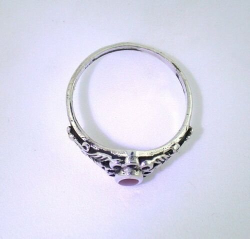 Cotton Candy Agate Ring Size 5.75 in Sterling Silver