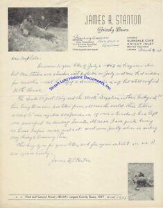 Grizzly-bear-hunter-James-Stanton-great-bear-letterhead-amp-letter-1957