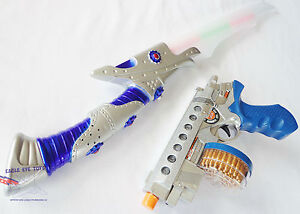 Toy Guns Electronic Toy Drum-Fed 9MM Machine Pistol w// Flashing Light /& Sound FX