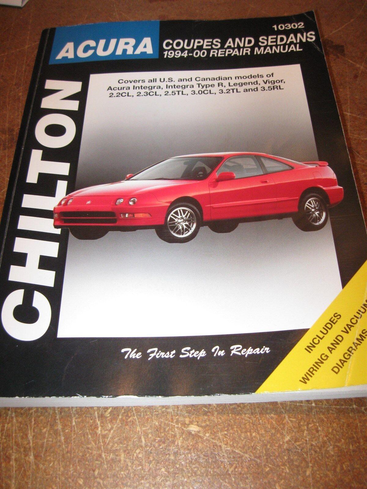 Chilton Acura Coupes Sedans 1994 - 2000 Repair Manual 10302 Integra Legend  Vigor   eBay