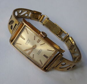 Vintage-CAMY-GENEVA-Incabloc-Gold-Plated-Cal-FHF69ST-Swiss-Made-Wristwatch