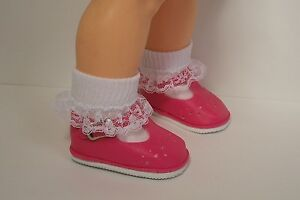 Debs Dark PINK Old Fashion T-Strap Tstrap Doll Shoes For Ideal Giggles DK