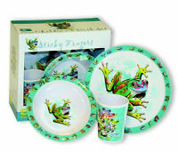 Frog-3pc. Melamine Plate, Bowl & Cup Set