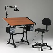 Black Drawing / Art / Hobby / Craft Table Desk | W/ Drawers, Tray