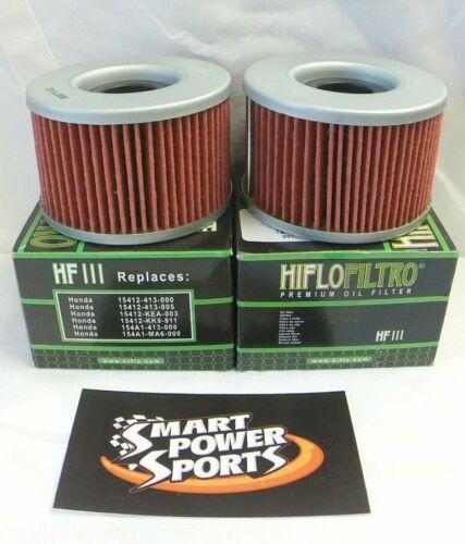 HF111 Honda 2 Genuine HiFLo HF 111 TRX-CB-VT-CX-CMX-GL Oil Filter Fits