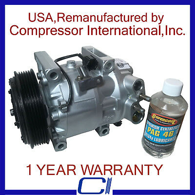 AC compressor W// one year warranty 2003-2008 Toyota Corolla Matrix OEM Reman