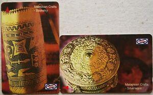 Malaysia Used Phone Cards - 2 pcs Malaysian Crafts