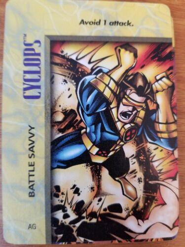 Marvel Overpower IQ Cyclops Battle Savvy NrMint-Mint Card