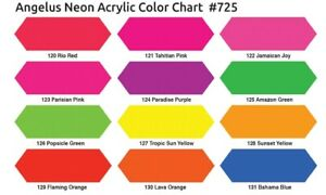 Angelus Acryl Lederfarbe Neon Feuer Orange (129) 29,5ml (20,17€/100ml) Leder