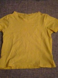 Damen-T-Shirt-gelb-Groesse-S
