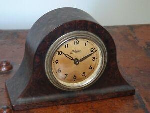Antique 1920s/30s Kaiser Miniature Bakelite Napoleon's Hat Mantel Clock -Wind-Up